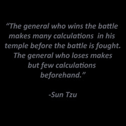 Business Plans are like a battle plan. You wouldn't enter the game ...