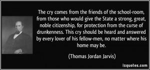 fellow men no matter where his home may be Thomas Jordan Jarvis