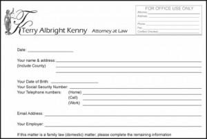 Client Information Form picture