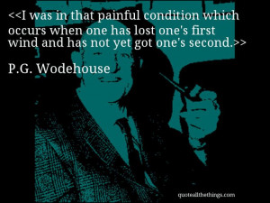 Wodehouse - quote