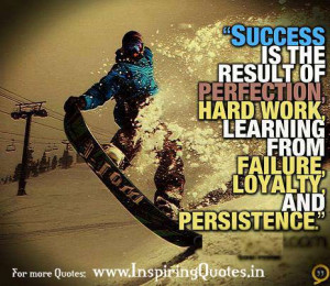 Famous Persistence Quotes with Images - Persistent - Success is the ...