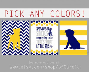 Frogs Snails Puppy Dog Tails Quote Wall Art Print Set by ofCarola, $24 ...