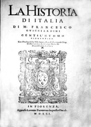 FRANCESCO GUICCIARDINI - LA HISTORIA D'ITALIA - 1561: Historia Ditalia