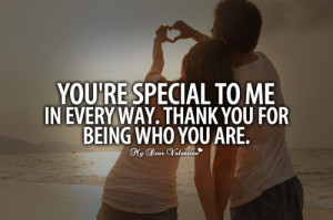 You are special to me in every way - Sayings with Images