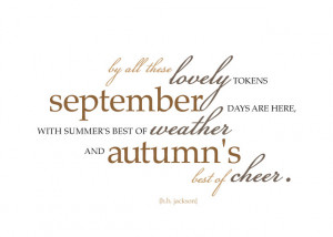 September Quote and the Johnson Family