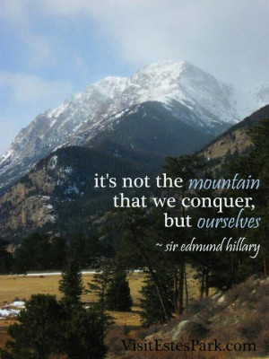 Sir Edmund Hillary quote.