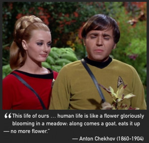 Star Trek Chekhov pic with writer Chekhov quote by Prooffreader