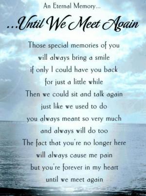 memorial poem gift loss of bereavement messages poems bereavement poem ...