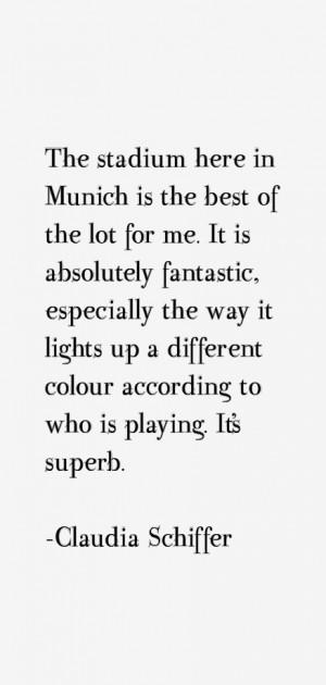 Claudia Schiffer Quotes amp Sayings