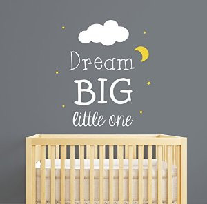 dream big little one nursery wall decal quote nursery wall decal ...