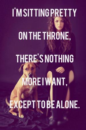 KarinaBrony Lorde Quote