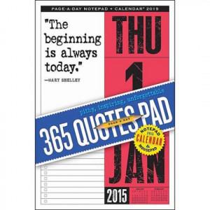 365 Quotes Pad 2015 Desk Pad