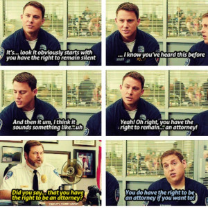 So funny. I loved this scene. 21 jump street