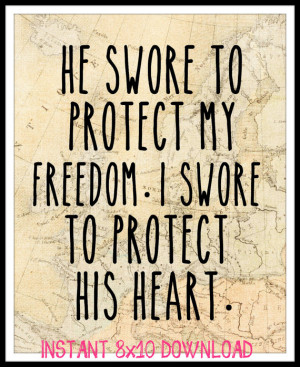 printable military relationship / long distance relationship quote