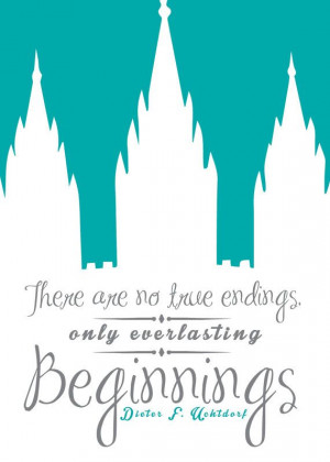 LDS Quote with Temple 5X7 Print on Etsy, $3.00