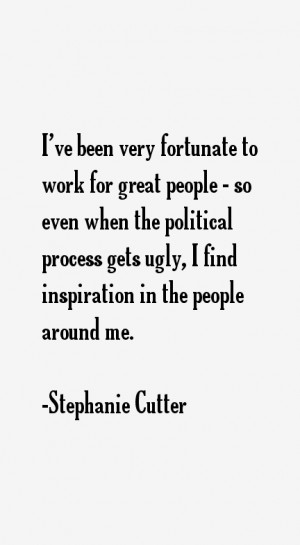 Stephanie Cutter Quotes & Sayings