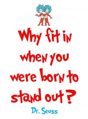 Dr. Seuss quote from The Grass Skirt blog