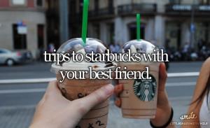 coffee, friends, quote, starbucks, summer, tumblr, girly stuff., trips ...