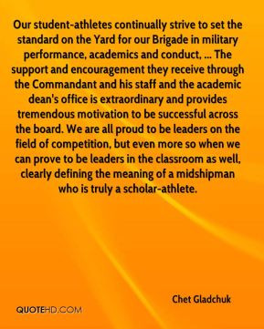 Chet Gladchuk - Our student-athletes continually strive to set the ...