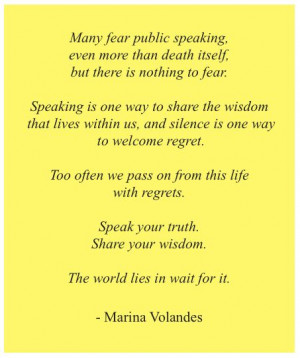 Fear Of Public Speaking Quotes Quote about the fear of public