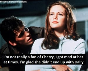 the outsiders cherry valance quotes