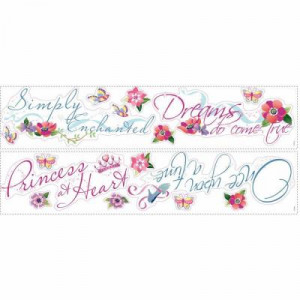 Disney Princess Quotes Peel and Stick Wall Decal