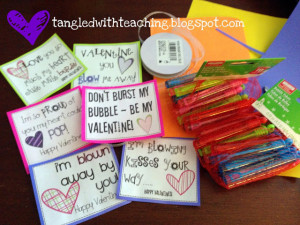 Bubbly Valentines {Freebie!}