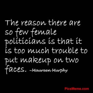 Trouble to put makeup on two faces