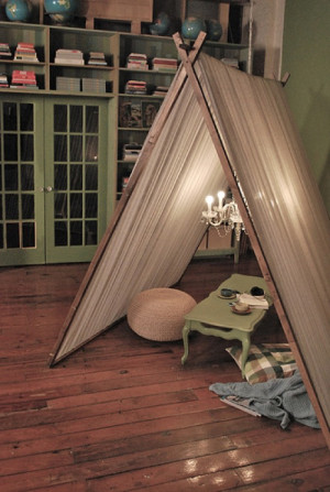 That's In-tents: 10 Indoor Camping Ideas