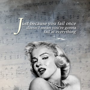 Marilyn Monroe ipad wallpaper inspirational quote - Just because you ...