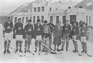 France Ice Hockey History - 1924 Winter Olympics Team - Chamonix