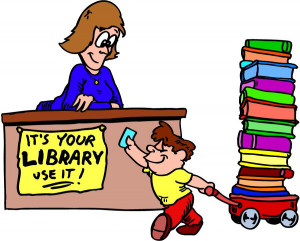 School Library Cartoon Cartoon Image Library