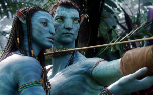 Download Neytiri and Jake Sully - Avatar wallpaper