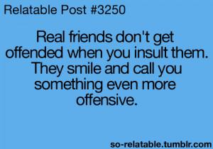 friends jokes friend joke insult offensive insults offended