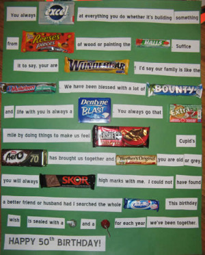 Birthday Candy Bar Messages Inspirational quotes using candy names ...