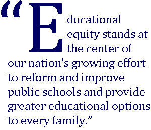 the goal of education equity is to eliminate educational barriers