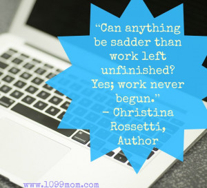 Great quote from Christina Rossetti #wahm