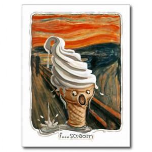 Scream Ice cream Postcards