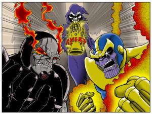 Darkseid versus Thanos