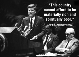 President John F. Kennedy addresses delegates to the AFL-CIO ...