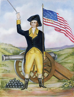 Lithograph_American_Revolutionary_Patriot_at_Post_Gunners_Patriots ...