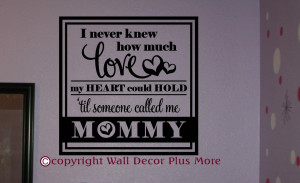 Mommy And Me Quotes Decor sticker quote. i