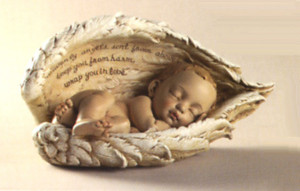 baby wrapped in angel wings 4 tall $ 20 heavenly angels sent from ...
