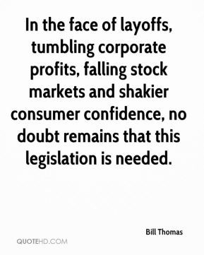 In the face of layoffs, tumbling corporate profits, falling stock ...