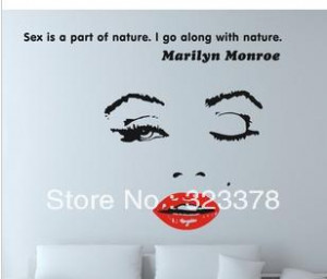 Wall Decal Decor Quote Face Red Lips Large Nice Sticker Text /Quote ...