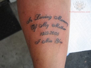 Memory Of Mother Tattoo