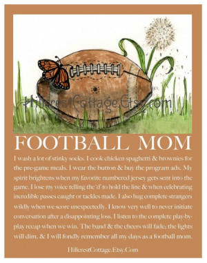 Football Mom Quotes Football mom poster celebrates