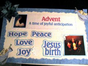 church christmas bulletin board sayings