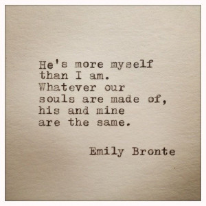 Emily Bronte Love Quote Typed On Typewriter von farmnflea auf Etsy, $8 ...