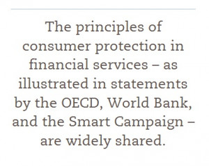 Financial inclusion with client protection will occur when all clients ...